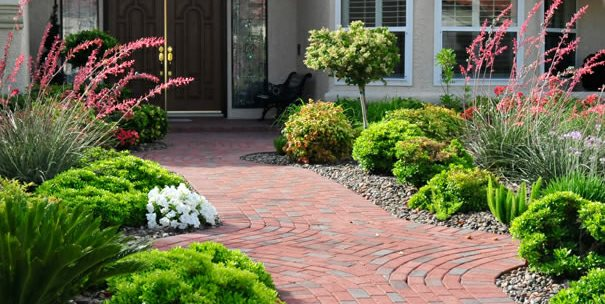 Red Pavers, Clay Pavers Chip-N-Dales Landscaping Las Vegas, NV
