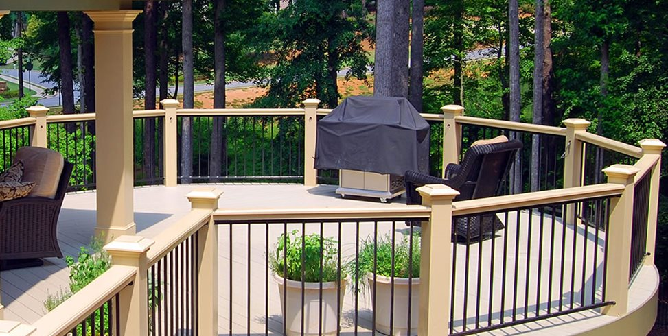 Round Deck Peach Tree Decks & Porches Atlanta, GA