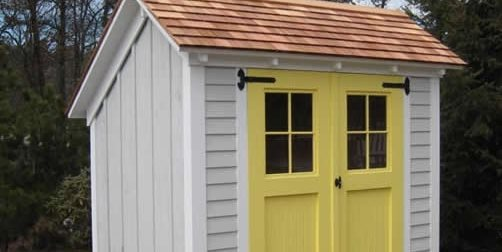 Saltbox, Shed, Double Doors Pine Harbor Wood Products Cape Cod, MA