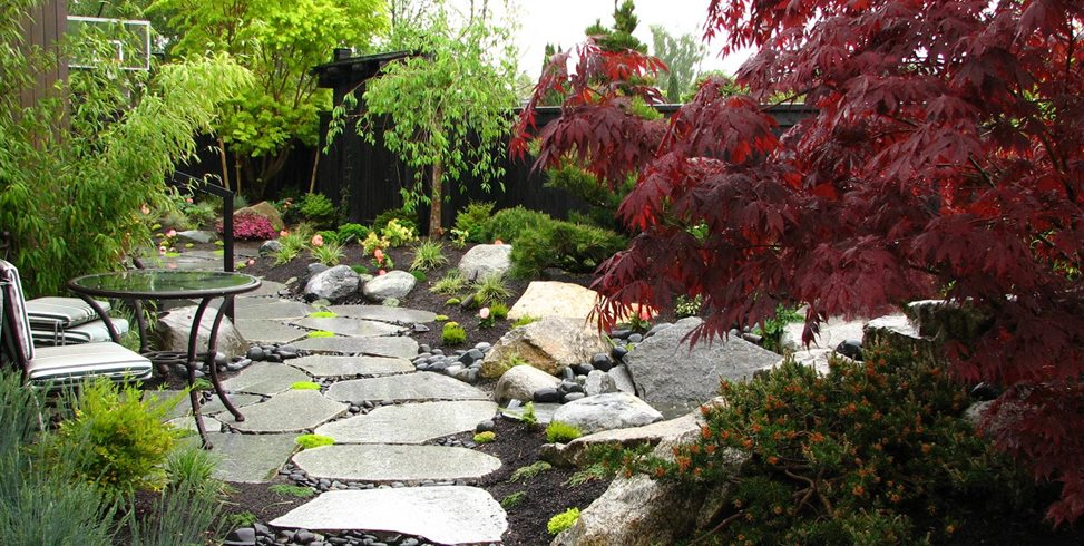 Sliced Boulders, Stone Path Stock & Hill Landscapes, Inc Lake Stevens, WA