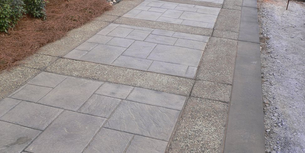 Stamped Concrete, Walkway Landscaping Network Calimesa, CA