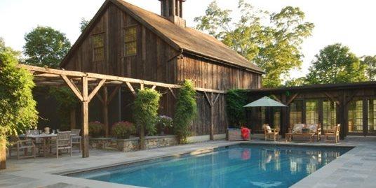 Stone Pool Deck Hoffman Landscapes Wilton, CT