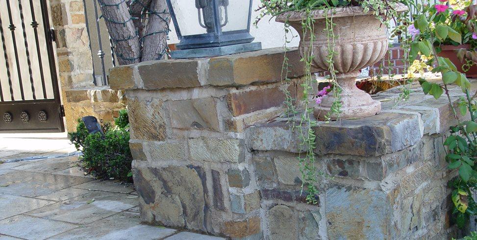 Stone Veneer, Wall Cap Maureen Gilmer Morongo Valley, CA