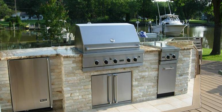 stainless steel built-in grill