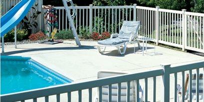 vinyl pool fence certainteed
