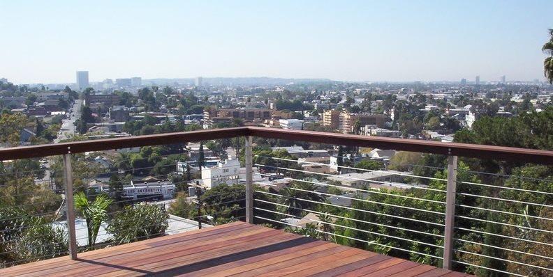 Wood Deck, Cable Railing California Decks Los Angeles, CA
