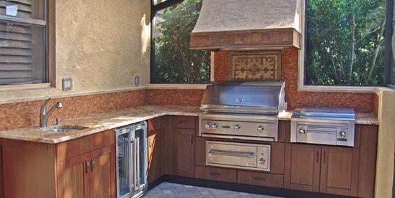 Wood Grain, Stainless Steel, Outdoor Cabinets Danver Wallingford, CT