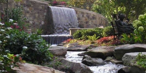 Backyard Stream Swimming Pool Craig Design Group Chattanooga, TN
