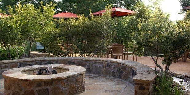 Flagstone Fire Pit Swimming Pool Landvisions TX Tyler, TX