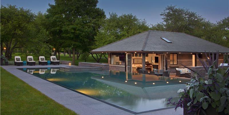Granite Pool Deck Walkway and Path Zaremba and Company Landscape Clarkston, MI