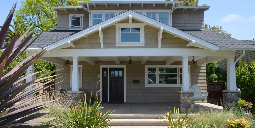 Craftsman, Front, Porch, Swing, Flax Landscaping Network Calimesa, CA
