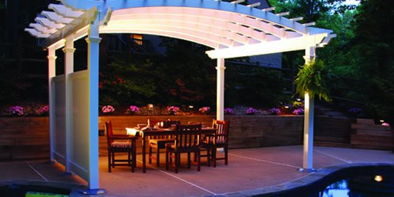 Lighted Pergola Backyard America Fredericksburg, VA