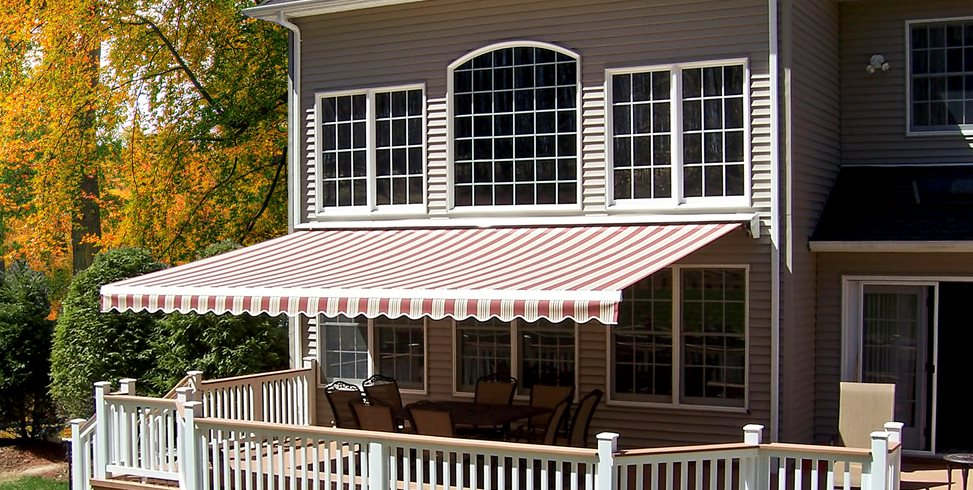 Striped Awning, Red Awning Eclipse Awning Systems Middletown, NY