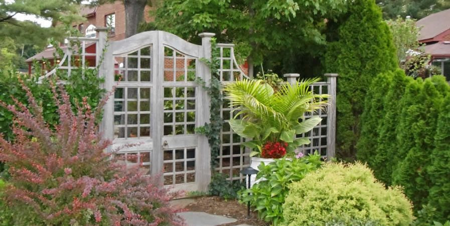 Fence Gate Design Ideas a red cedar double gate plan with fence design Lattice Gate Lattice Fence Gates And Fencing Sisson Landscapes Great Falls Va