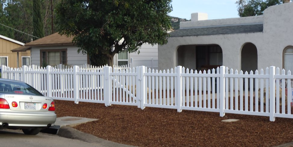 Vinyl Fence, Picket Fence, Front Fence Gates and Fencing Pacific Sunscapes San Diego, CA