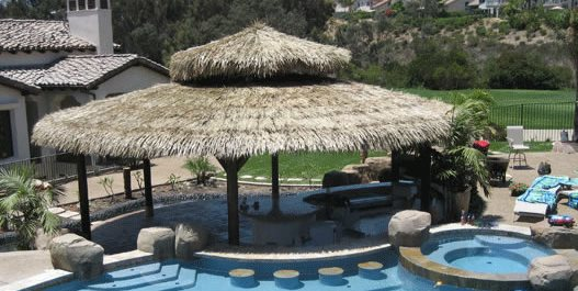 Large Round Palapa Pergola and Patio Cover Palapa Kings Oceanside, CA