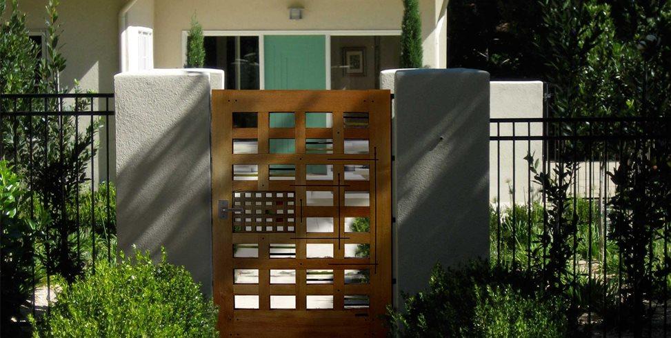 Contemporary Garden Gate Charles Prowell Woodworks Sebastopol, CA