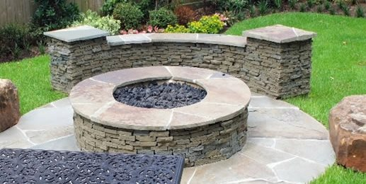 Fire Pit Seat Wall Hamilton-Steele Outdoor Accents Houston, TX