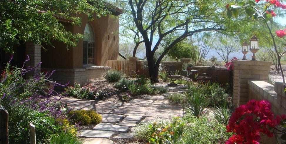 Garden Walkway Casa Serena Landscape Designs LLC - Closed