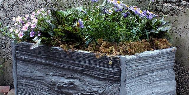 Reclaimed Wood Concrete Planter NativeCast Wilmington, DE