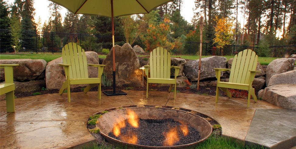 Recycled Fire Pit Copper Creek Landscaping, Inc. Mead, WA