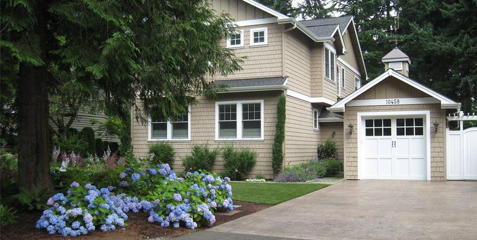 Stamped, Concrete, Driveway, Garage Spring Greenworks Bellevue, WA