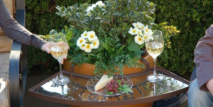 The Ledge, Table Attachment, Pot Legendary Patio & Home Designs Fresno, CA