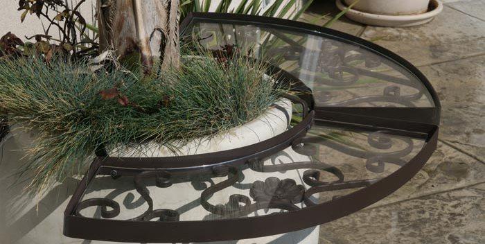 Wrought Iron, Acrylic Glass, Table Attachment, Pot Legendary Patio & Home Designs Fresno, CA