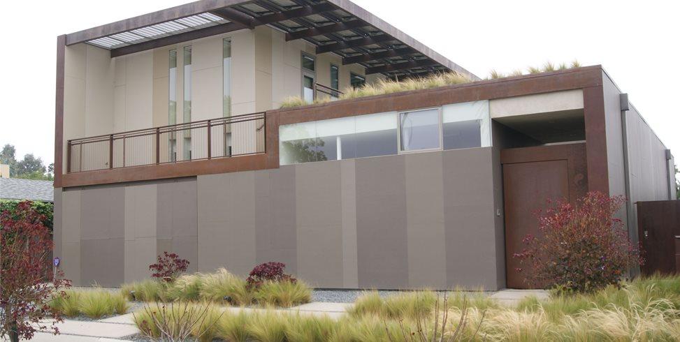 Modern Front Yard Garden Design Z Freedman Landscape Design Venice, CA