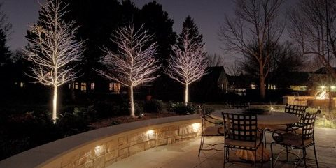 Patio, Lighting, Seat Wall McKay Landscape Lighting Omaha, NE