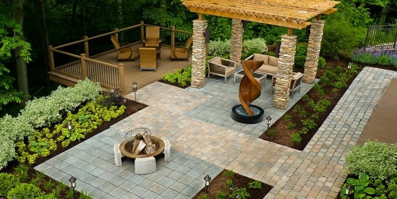 Backyard Designs Ideas paver design ideas hgtv Wheelchair Accessible Backyard Backyard Landscaping The Cornerstone Landscape Group Fort Wayne In
