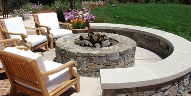 fire pit douglas landscape construction san jose ca - Patio Design Ideas With Fire Pits