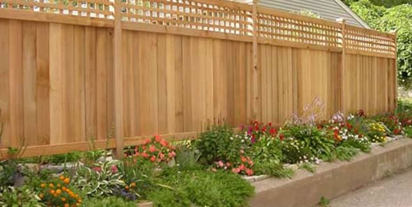 Fence Garden Ideas backyard landscaping along fence Wood Fence Privacy Fence Gates And Fencing The Fence Deck Patio Company Houston
