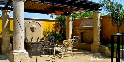 Pergola Columns, Mediterranean Pergola, Patio Pergola Pergola and Patio  Cover LandPlan's Landscaping Pleasanton, - Pergola And Patio Cover Ideas - Landscaping Network