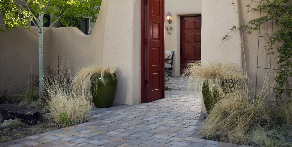 Gate, Stucco, Entry, Courtyard, Grasses WaterQuest, Inc. Albuquerque, NM