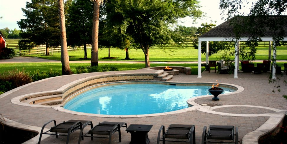 custom pool pool design lightfoot landscapes inc houston tx - Outdoor Swimming Pool Designs