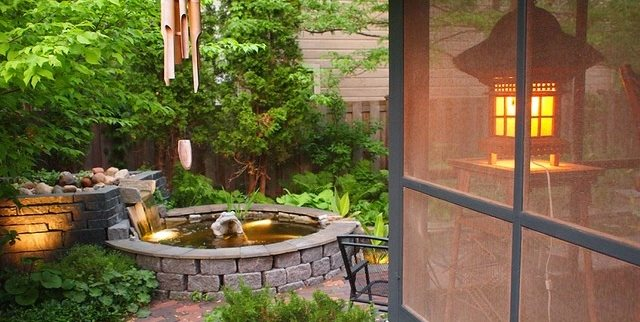 Water, Sound, Bamboo, Windchime Backyard Landscaping Switzer's Nursery and Landscaping Northfield, MN