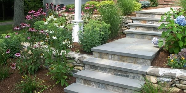 Walkway, Steps Entryways, Steps and Courtyard Brookside Landscape Contractors Chesire, CT
