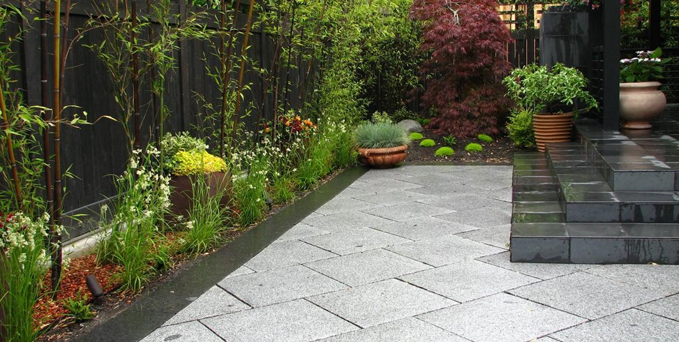 Cut Granite Pavers, Set On A Bias Stock & Hill Landscapes, Inc Lake Stevens, WA