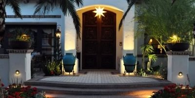 Front Door Lighting, Front Door Landscaping Exteriors by Chad Robert, Inc. Phoenix, AZ