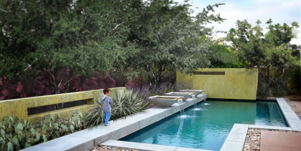 Geometric Pool Design Bianchi Design Scottsdale, AZ