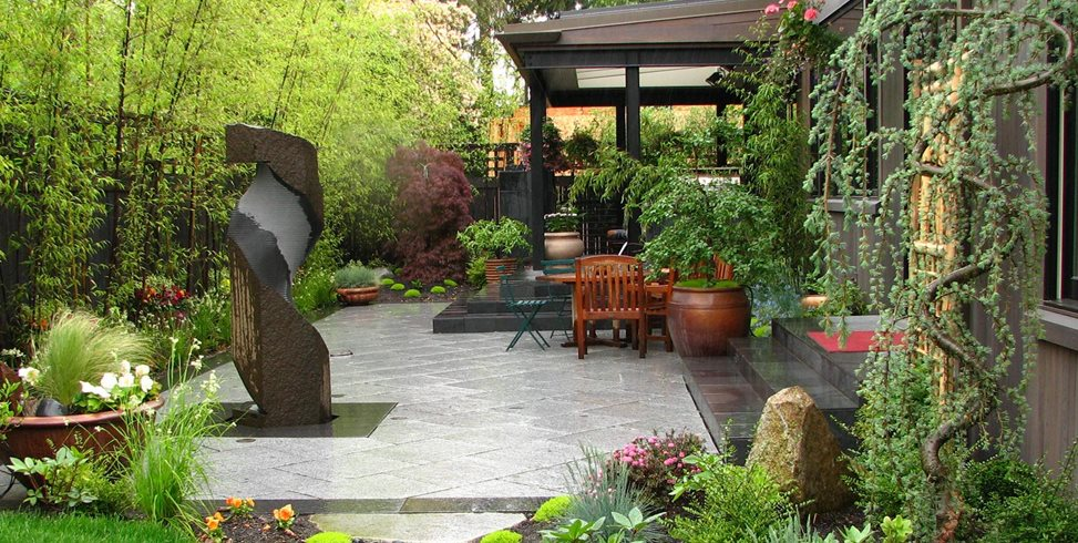 Japanese Patio, Bamboo Screen Stock & Hill Landscapes, Inc Lake Stevens, WA
