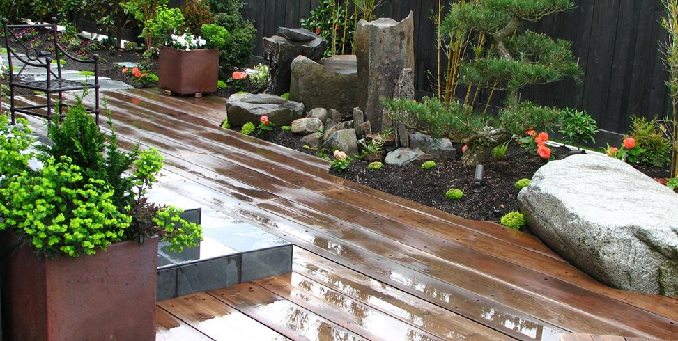 Reclaimed Wood Deck Stock & Hill Landscapes, Inc Lake Stevens, WA