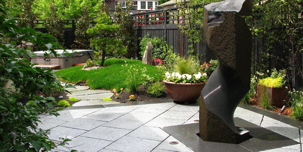 Stone Fountain, Stone Sculpture Stock & Hill Landscapes, Inc Lake Stevens, WA