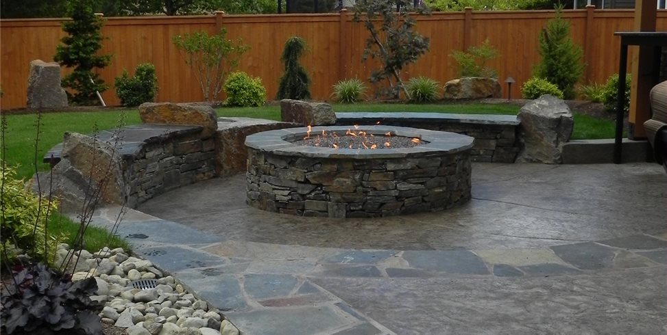 Stamped Concrete Mimics Flagstone Landscaping Network