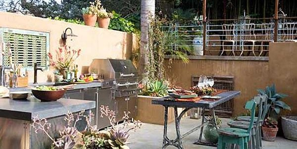 Stucco outdoor kitchen landscaping network - Cocinas en terrazas ...