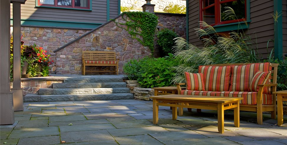 Flagstone patio benefits cost ideas landscaping network for Miller company landscape architects