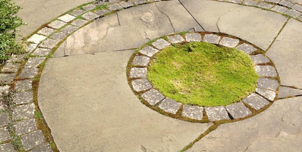 Concrete, Stone, Moss Spring Greenworks Bellevue, WA