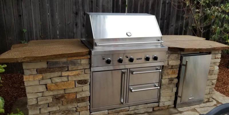 Outdoor Kitchen Island, Built In Grill Greener Environments Los Osos, CA
