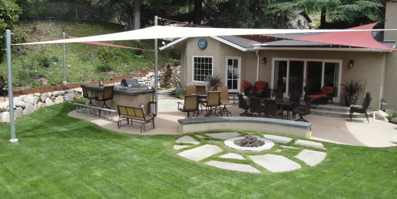 Shade Sails, Backyard Shade Sails Got Shade Woodland Hills, CA